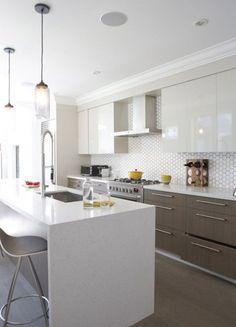 Une cuisine qui parait plus grande grâce à un design épuré