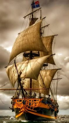 Other Night Sailing Ocean Moon Boat Hd Wallpapers Other for HD Old Sailing Ships, Ship Paintings, Wooden Ship, Tall Ships, Ship Art, Lighthouse, Ocean, Sailboats, Pirate Ships