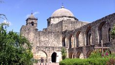 Video of Mission San Jose in San Antonio Texas. Built by Spanish missionaries and Indians in 1720. Stone walls and garden.  - HD stock video...