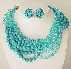 Coppola E Toppo Turquoise Necklace and Earrings