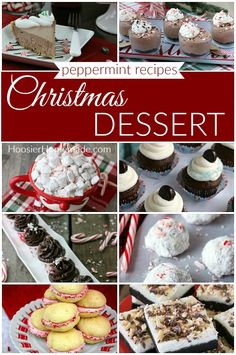 These Christmas Dessert Recipes are perfect for your dessert table, after dinner, parties, potlucks at work, and you can even make them as gifts. Christmas Desserts, Christmas Baking, Christmas Recipes, Cocktail Sauce, Dessert Table, Peppermint, Muffin, Dessert Recipes, Homemade