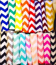 Chevron Baby Swaddle Blanket receiving blanket by Phatcatpatch, $12.49