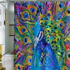 Peacock~ shower curtain