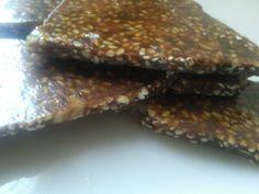Croccante di sesamo al cioccolato