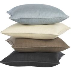 """Hayward Taupe 18"""" Pillow   Crate and Barrel"""