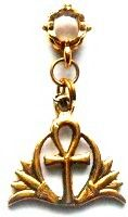 """Double Lotus Blossom Ankh. Lotus symbolizes the unfolding of your Divinity. Ankh is life. For a """"divine life""""!"""