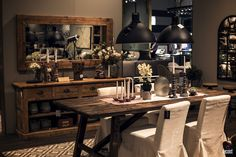 Modern dining rooms are increasingly being relegated to a small, designated corner of the kitchen or living area. The age of the expansive and lavish dinin