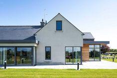 New Build In County Armagh Informasi dan tips mengenai rumah minimalis Modern Bungalow House, Bungalow Exterior, Bungalow Renovation, Cottage Exterior, Modern Farmhouse Exterior, Dream House Exterior, Modern House Plans, Modern House Design, House Designs Ireland