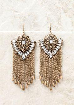 Plus Size Clothing   Rhinestone Chandelier Earrings   Debshops.com