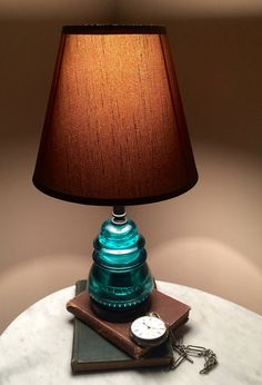 chillypepperhothothot:Glass Insulator Table Lamp / Desk Lamp by GlassInsulatorLights.com on Flickr.