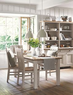 fresh and bright dining area from Mark & Spencers