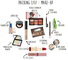 The make up items that one can never go wrong. At least 3 of these items should be present in a lady's make up bag