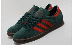 73a800e4093f3 Premium textured ivy green suede covers the adidas Originals Tobacco  Ivy Chili. Chili red accents bring life to the understated shoe