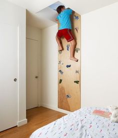 Home Climbing Walls for Kids, and Big Kids Too  If we had a loft area this would be the entrance.