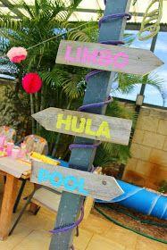 anna and blue paperie: Mackenzie's Aloha Summer Luau: Real Party
