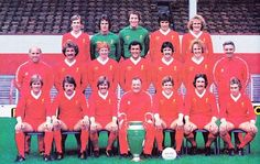 Squad picture for the season - LFChistory - Stats galore for Liverpool FC! Liverpool Fc Team, Liverpool Legends, Liverpool Anfield, Phil Neal, Ray Clemence, Bob Paisley, Football Team, Football Medals, Football Pics
