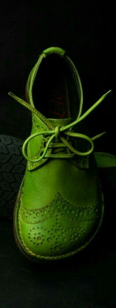 Even though I am not a big fan of this green...it actually works on these shoes. Definitely an eye catching color.