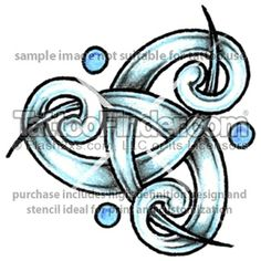 Sky Triquetra tattoo design by Tee Jay...instead of blue dots, dermal piercings?