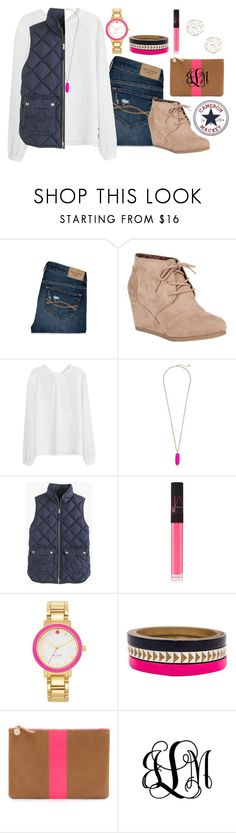 """OOTD"" by cammie0825 ❤ liked on Polyvore featuring Abercrombie & Fitch, City Classified, Kendra Scott, J.Crew, NARS Cosmetics, Kate Spade, Voz Collective, Clare V., Danielle Stevens and women's clothing"
