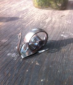 Fork Snail Sculpture by WareMeOutJewelry on Etsy