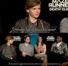 Thomas Sangster during interviews: a summary