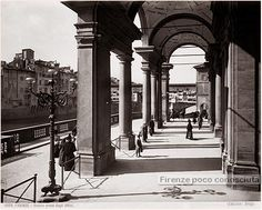 Portici degli Uffizi verso il 1890. #firenze. Running Away From Home, Firenze, Urban Design, Tuscany, Flora, Places, Pictures, Travel, Vintage