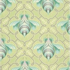 Tula Pink Bumble Fabric - Bumble Bee-Sprout