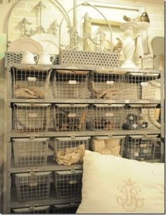 Old metal industrial baskets....never too many!