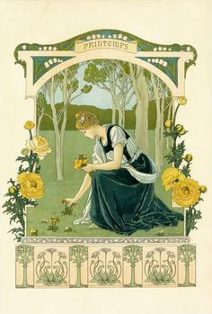 'Printemps / Spring' by Elisabeth Sonrel, ca. 1900.Source
