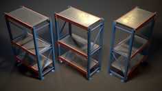 Storage Rack Collection - Modular Game ready asset , available formats OBJ, FBX, TGA, ready for animation and other projects Game Props, Zombie Art, Unreal Engine, Art Station, Environment Concept Art, Storage Rack, 3d Design, Game Art, 3d Printing