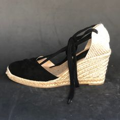 30e0d6ed6db Lace-up ESPADRILLE WEDGES - CROCHET Collection - made in Spain - www ...