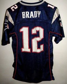 6d4d2be5526 New England #Patriots #12 Tom Brady Jersey Youth Large 14-16 Reebok #