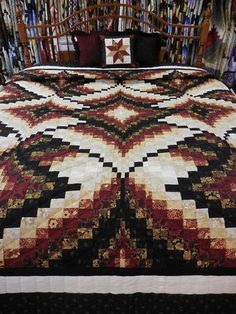 Red, Gold, and Black Diamond Jubilee Quilt. Size: King, x The border is scalloped. This quilt is handmade and quilted in Lancaster County, Pa. Bargello Quilt Patterns, Bargello Quilts, Quilt Patterns Free, 3d Quilts, Log Cabin Quilt Pattern, Log Cabin Quilts, Labrynth Quilt Pattern, Homemade Quilts, Tree Quilt