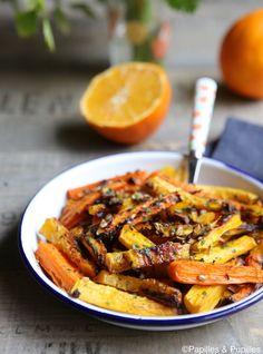 Salade de carottes rôties aux grains de fenouil »