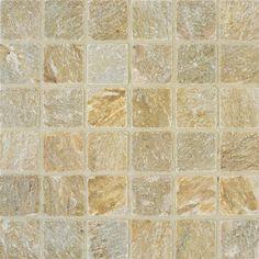 "TILE-9_2""x2"" tumbled quartzite in Golden Gate_ Arizona Tile tile: guest house/ caretaker shower floors"