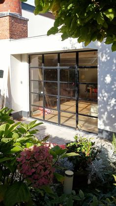 Steel outside doors & frames - Simply Steel Floor To Ceiling Windows, Windows And Doors, Aluminium French Doors, Door Design, House Design, Night Window, Inside Doors, Exclusive Homes, Glass Installation