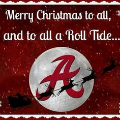 Roll Tide!  Christmas card.