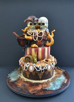 Pirate's of the Caribbean cake. One of Wyatts parties.