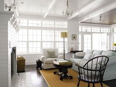 bright and light and comfy... simple living room