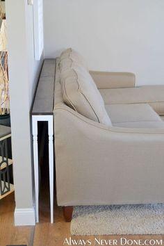 DIY Thin Sofa Table