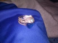 Sterling Silver .925 Toe Ring  Excellent Condition  Bueatiful blue face with gem on her headdress  B $30.00