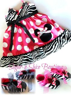 FABULOUS Zebra Minnie dress by angela81dutch on Etsy, $38.00