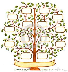 Illustration about Hand drawn and painted decorative family tree with room to personalize with family names. Illustration of family, ancestors, painted - 45538183 Family Tree Drawing, Family Tree Quilt, Family Tree For Kids, Family Tree Art, Family Tree Designs, Tree Clipart, Tree Sketches, Tree Templates, Tree Crafts