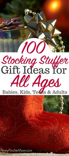 100 Stocking Stuffer Ideas for babies, kids, teens, men and women  Gift ideas | stocking stuffer ideas | Christmas budget  #stockings #gifts