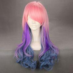 Harajuku wigs Lolita wig pink purple gray gradient wigs, New Arrival Wigs, Cosplay Wigs