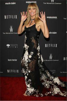 Heidi Klum - golden globes 2014 after party