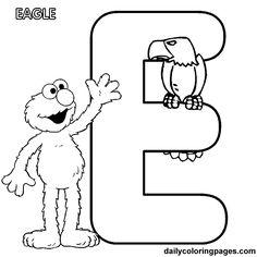 letter e worksheets for preschool | elmo alphabet letters to print