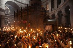 Church of the Holy Sepulcher now stands in the Old City of Jerusalem. While the source of the holy fire is a closely guarded secret, believers say the flame appears spontaneously from his tomb on the day before Easter to show Jesus has not forgotten his followers.The ritual dates back at least 1,200 years.