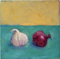 """Saatchi Online Artist: Adriana Eyzaguirre; Oil, 2008, Painting """"Garlic & Onion"""""""
