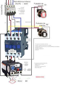 three phase contactor wiring diagram electrical info pics non esquemas eléctricos a y paro como conectarlo trifasico